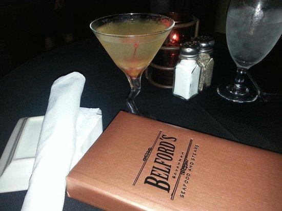 Belford's Savannah: Belford's very delicious Peachtini.