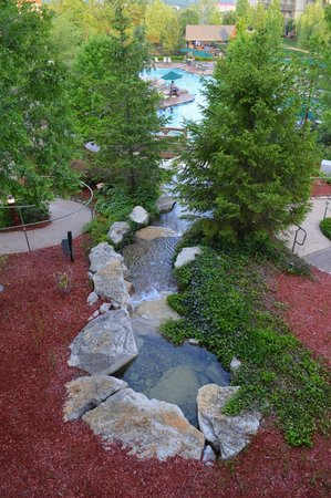 Marriott's Willow Ridge Lodge : Waterfall down to the pool