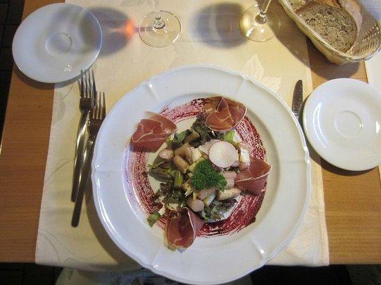 Hotel Silberhorn restaurant: Asparagus & Prosciutto Salad
