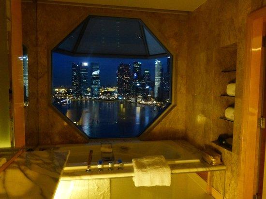 The Ritz-Carlton, Millenia Singapore: view from bathroom
