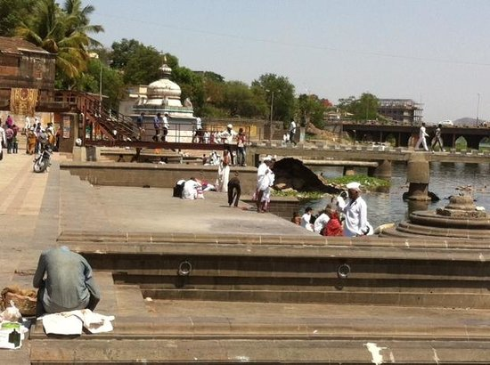 Ghat at Alandi in Temple complex