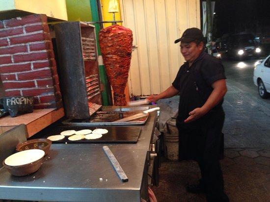 Taqueria El Fogon: One of the cooks!
