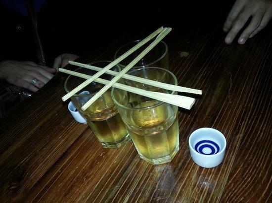 Yakitori Daruma Japanese Sake Bar: Sake bomb!