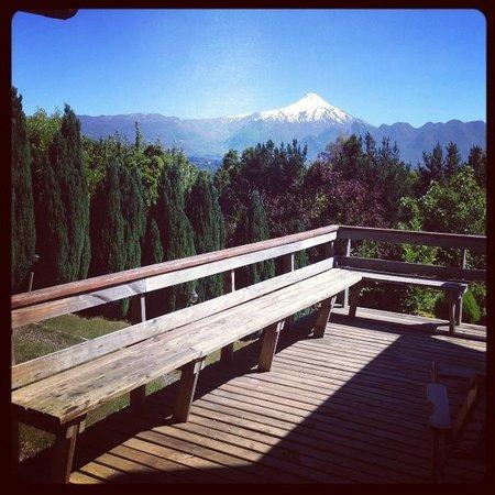 Mirador Los Volcanes: Vista do meu quarto - vulcão