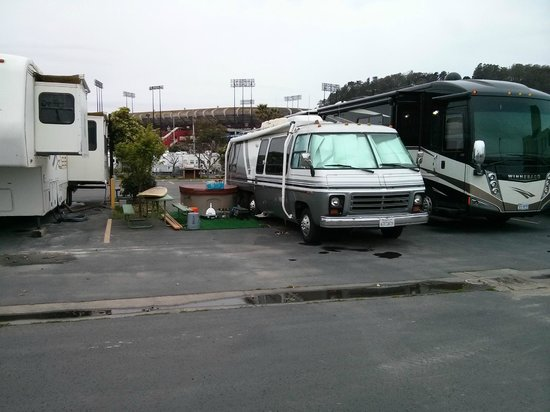 Candlestick RV Park: Typical Full-timer Space