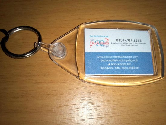 Docklands Fish and Chips: Key holder