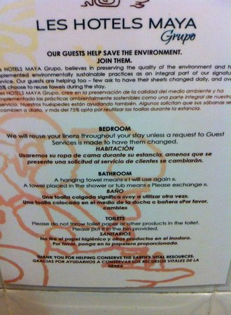 Hotel Azul : Rules of the Hotel