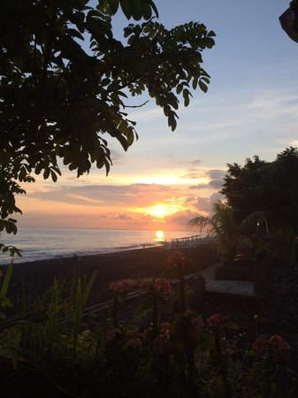 Solaluna Beach Homestay: One of the Beautiful sunrises from the front step