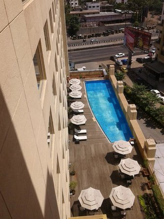 Four Points By Sheraton Hotel & Serviced Apartments, Pune: A view of the pool from the 8th floor