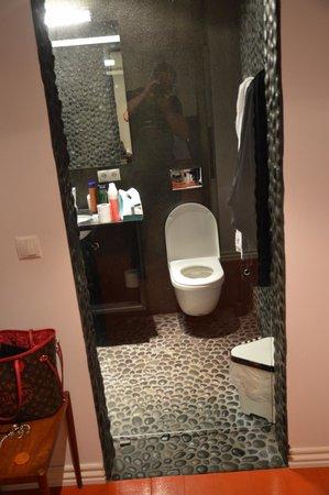 Apartment K: Glass door - zero privacy