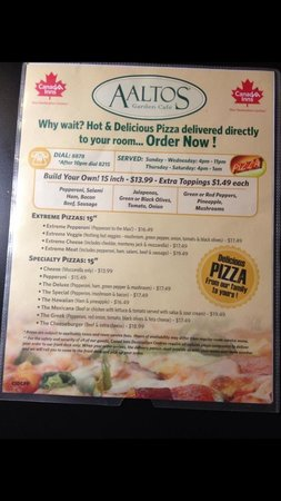 Canad Inns Polo Park: menu with wrong hours of operation