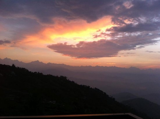 Sunrise_View from our room in 5th floor, Club Himalaya, Nagarkot Nepal