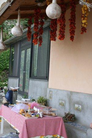 Rifugio degli Dei : Het ontbijtbuffet