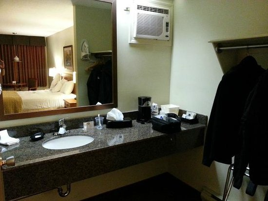 Best Western Salmon Arm Inn : Shower & toilet separated from sink area.