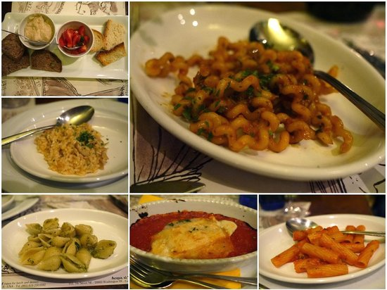 Acqua Al 2: Disappointing Pasta Sampler (Looks better than it tastes!!!)