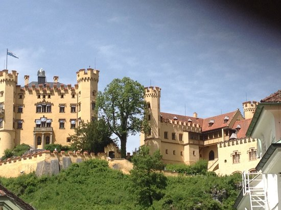 Schloss Hohenschwangau: From the village