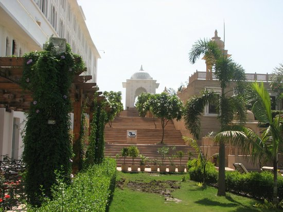 Radisson Blu Udaipur Palace Resort & Spa: towards the spa