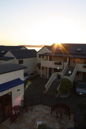 Sunset over Baycrest Lodge