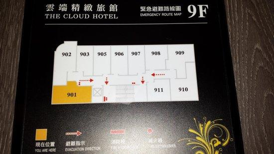 The Cloud Hotel: floorplan