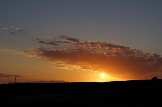 Agriturismo Oasi Valle Lupo: Schöner Sonnenuntergang