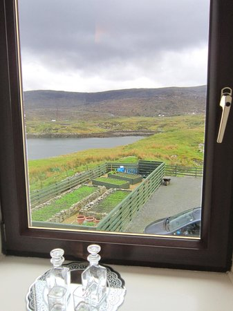 Ceol na Mara Guest House: View from the Lilac Room. We'd already downed the whisky and sherry...