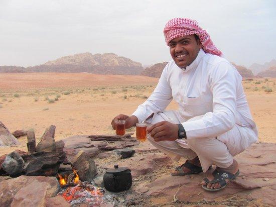 Bedouin Advisor Camp: Tea at sunset!
