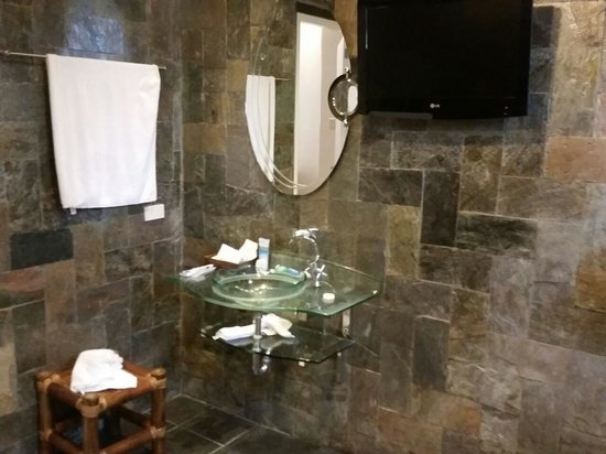 Ambassador in Paradise Resort: sink with flat screen and shower