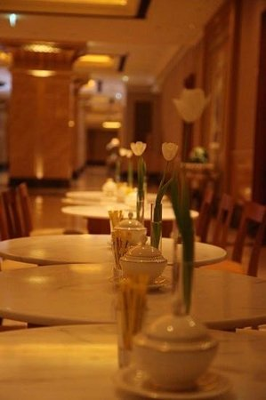 tables arranged in emirates palace