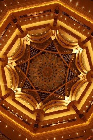 interior design of the roof of emirates palace