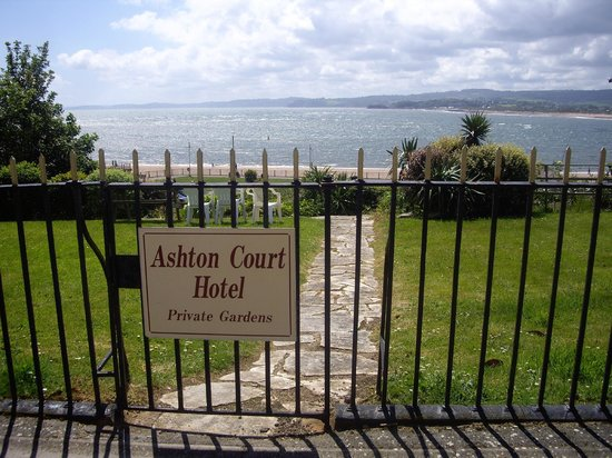 Ashton Court Hotel Gardens with sea view