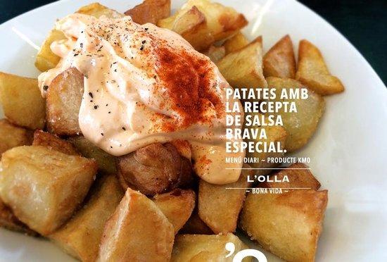 L'Olla Roca Umbert: Patates braves amb salsa especial