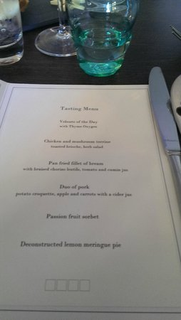 Stanwell House Hotel: 6 course Taster menu.. mm mm