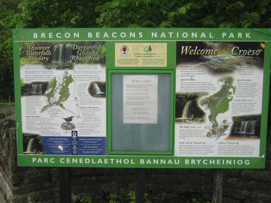 Waterfalls Centre: Information board