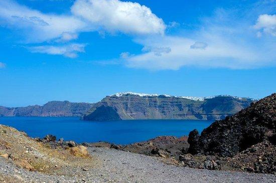 Santorini Volcano: Вид на о. Санторини