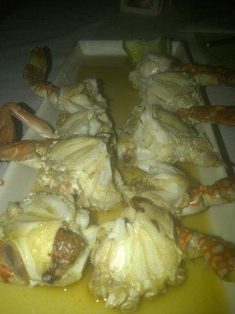 Amigo Lodge : Dinner crab starter