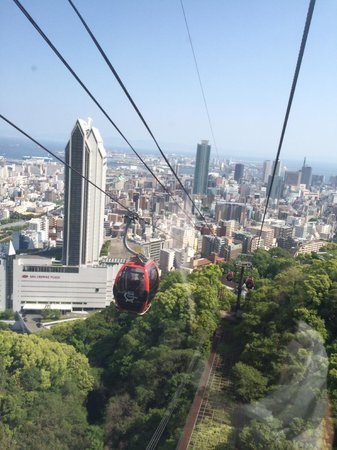 ANA Crowne Plaza Kobe: view from herb garden cable car