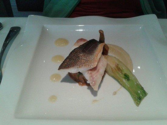 Le Gavroche : Le plat du menu...peu de garniture
