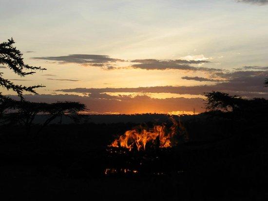 Kandili Camp: Atardecer junto a la hoguera