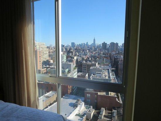 Sheraton Tribeca New York Hotel: エンパイアステイトビルが見える