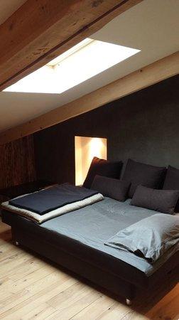 Green Ecolodge : mezzanine chambre bois flotté