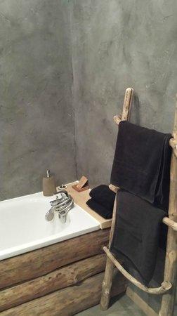 salle de bains chambre bois flotté - Photo de Green Ecolodge ...