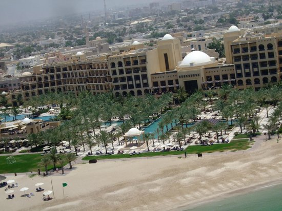 Hilton Ras Al Khaimah Resort & Spa: View of the hotel from the Parasail
