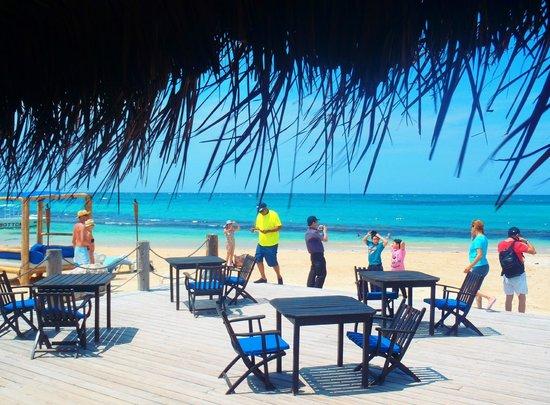 Ocho Rios Bay Beach : View from the restaurant
