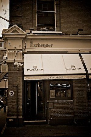 The Exchequer: The Entrance to the very cool front bar, restaurant to the back.