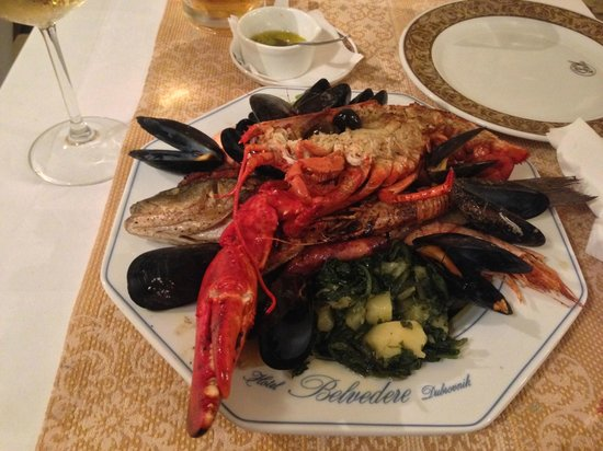 Restaurant Antunini: Seafood platter with lobster