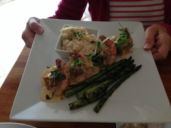 That Place: Crab Stuffed Shrimp with Creamy Risotto