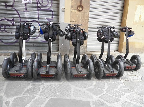 Italy Segway Tours: The Segways lined up