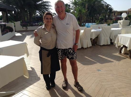 Atrium Palace Thalasso Spa Resort & Villas : Maria - our breakfast waitress and me
