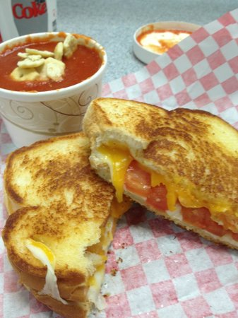 Tom & Chee: GRILLED CHEESE & TOMATO SOUP