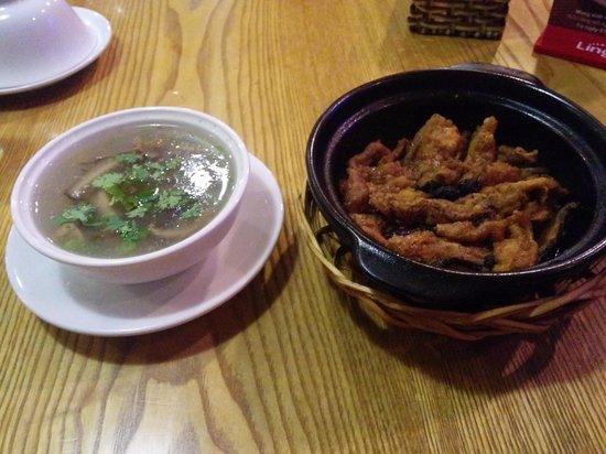 Tofu And Scallions In Mushroom Broth Recipe — Dishmaps